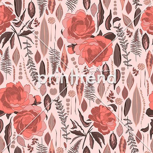 Pink simplified garden - Exclusive PSD