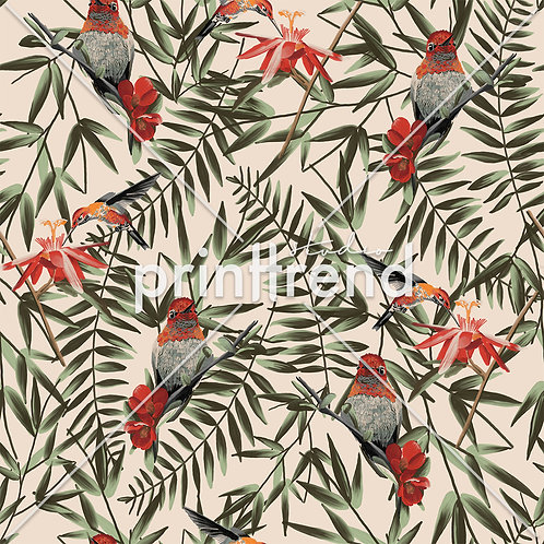Birds with ferns - Exclusive PSD