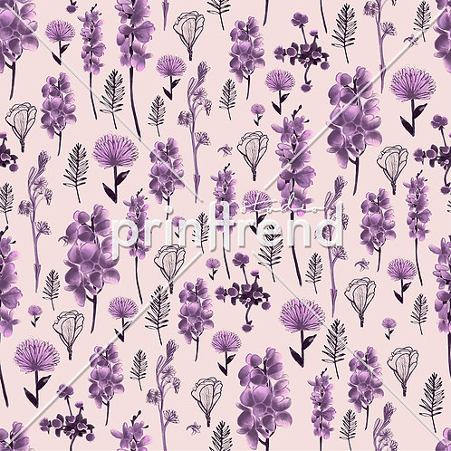 Lilac floral repeat - Standard JPEG