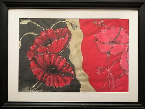 Silk Painting - Poppy2