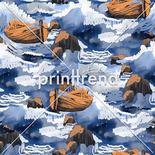 Abstract boat in the sea - Exclusive PSD