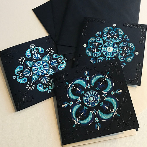 Christmas Cards - Folklore snowflake