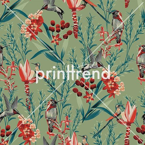 Birds in garden - Exclusive PSD