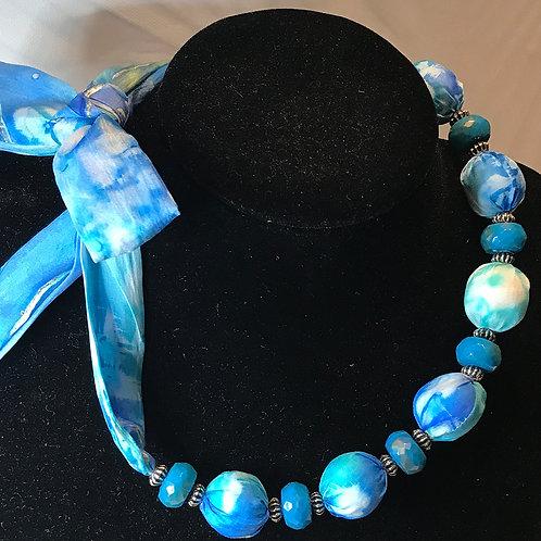 Silk Necklace -BG