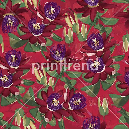 Vibrant floral print - Exclusive PSD