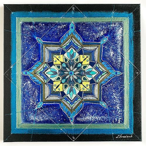 Mandala Winter painting