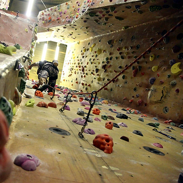 Indoor lead climbing London