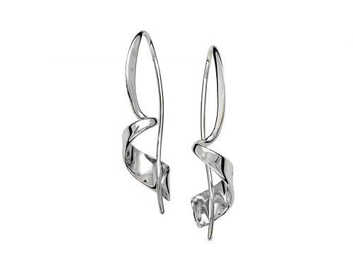 """""""Corkscrew"""" Earrings - Sterling Silver"""