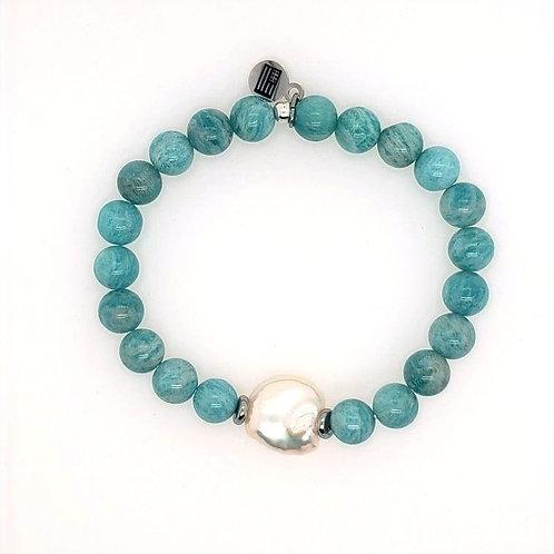 Amazonite & Pearl Bracelet by T. Jazelle