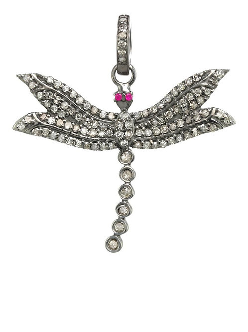 Pave Diamond Dragonfly Charm - Margo Morrison