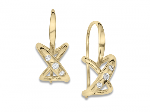 """Secret Heart"" Earrings - 14kt Gold & Diamonds - Ed Levin"