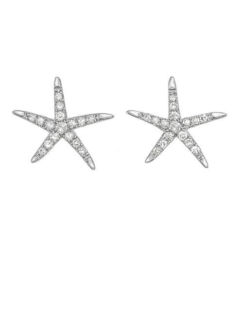 Margo Morrison - Pave Diamond Starfish Post Earrings