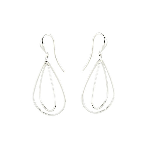 """""""Pear"""" Wire Earrings - Sterling Silver"""
