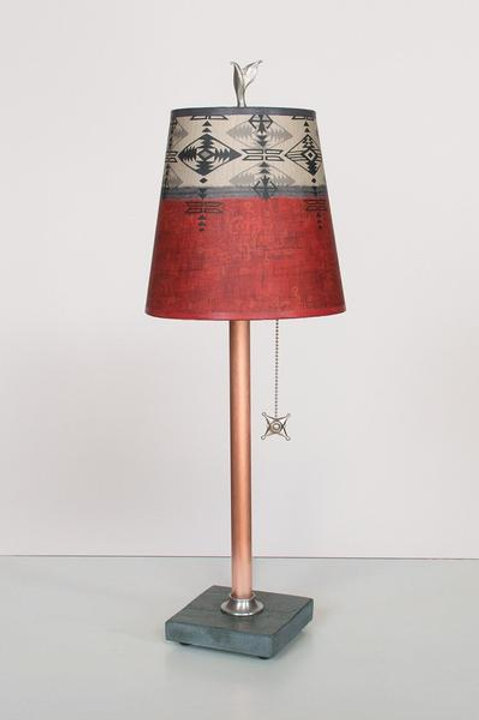 Small Copper Table Lamp - Slate Base