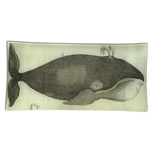 "John Derian - Sputing Whale 6"" x 12"" Pencil Tray"