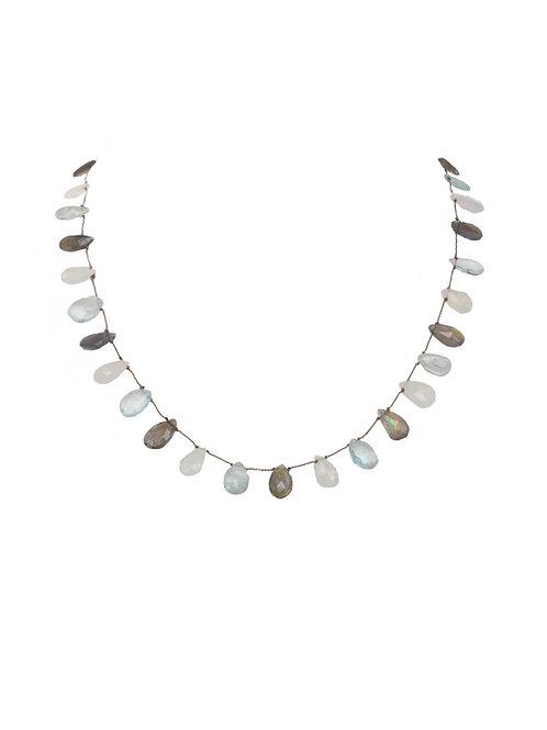 Margo Morrison - Moonstone, Aquamarine & Labradorite Necklace