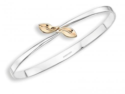 """""""Be-Leaf"""" Bracelet - Sterling Silver & 14kt Gold - Ed Levin Studio"""