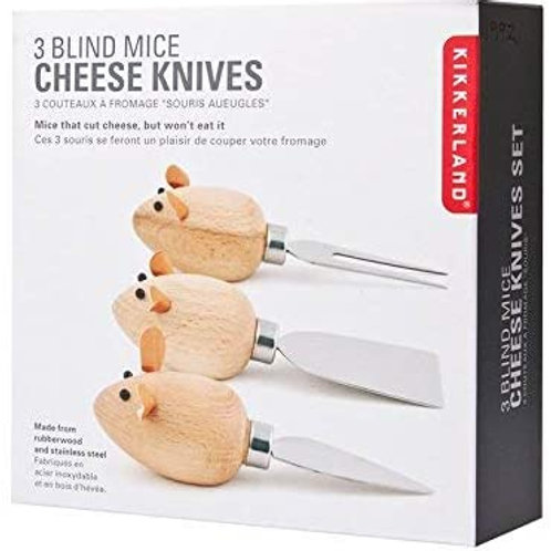 """Mice"" Cheese Kives (Set of 3)"