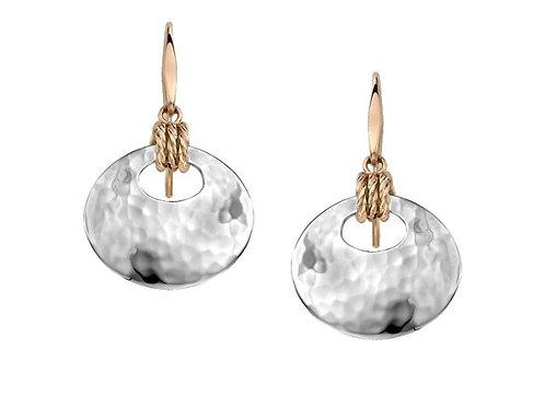 """Knot-i-cal"" Earrings - Sterling Silver & 14kt Gold - Ed Levin Studio"