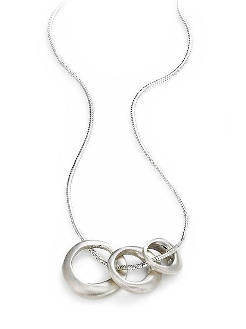 Three Ring Sterling Silver Necklace - Philippa Roberts