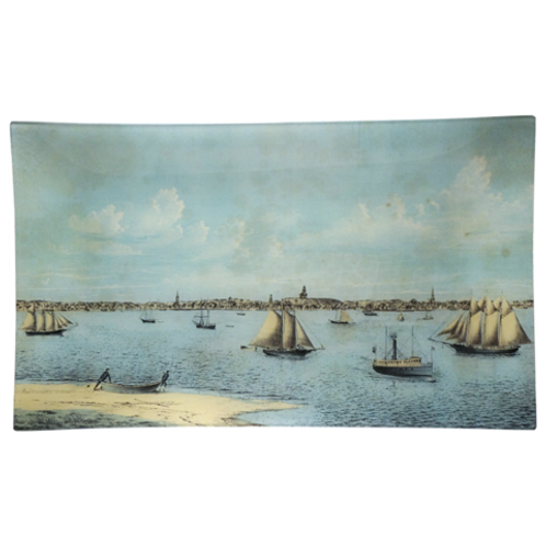 """""""View From Long Point"""" Decoupage Glass Plate by John Derian"""