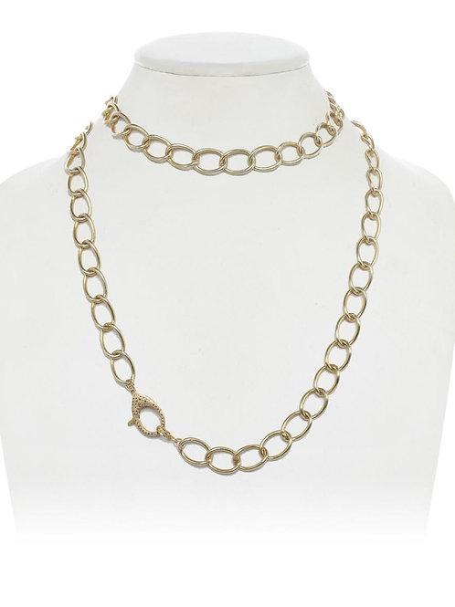18kt Gold Vermeil Chain With Pave Diamond Clasp - Margo Morrison
