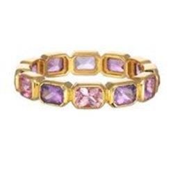 18kt Gold & Purple Sapphire Ring - Margo Morrison