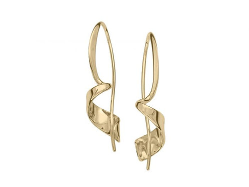 """""""Corkscrew"""" Earrings - 14kt Gold - Ed Levin Studio"""