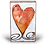 "Thumbnail: ""Turner Heart II"" Spirit Tile by Houston Llew"