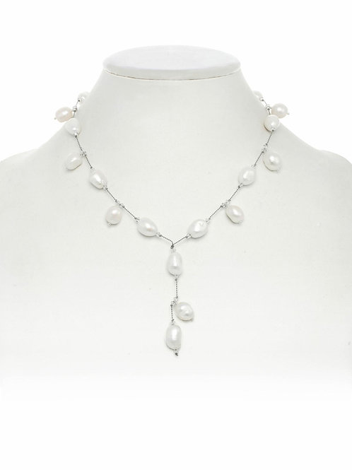 """Dancing"" Freshwater Pearl Y Shape Necklace - Margo Morrison"
