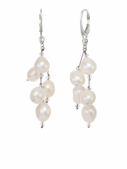 White Freshwater Pearl Earrings - Margo Morrison