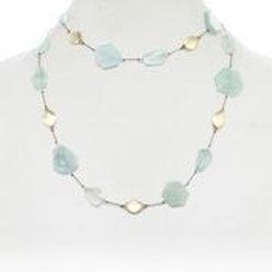Aquamarine & 18kt Gold Vermeil Bead Necklace - Margo Morrison