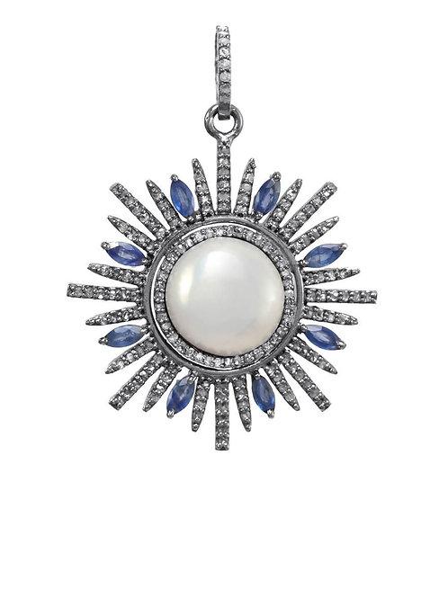 Pearl, Sapphire, & Diamond Charm - Margo Morrison