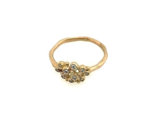 Made By Branch - 14kt Gold & Diamond Cluster Ring
