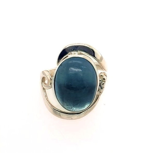 Fluorite & Sterling Silver Ring