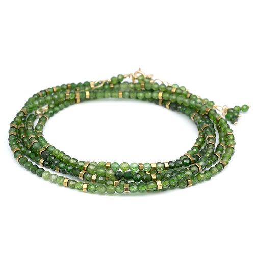 Green Tourmaline & 18kt Gold Wrap
