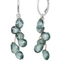 Green Topaz & Sterling Silver Earrings - Margo Morrison