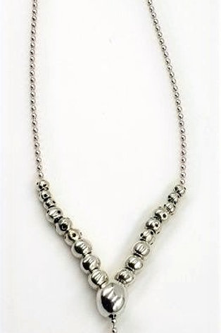 Uno de 50 Ball Shape Slider Necklace