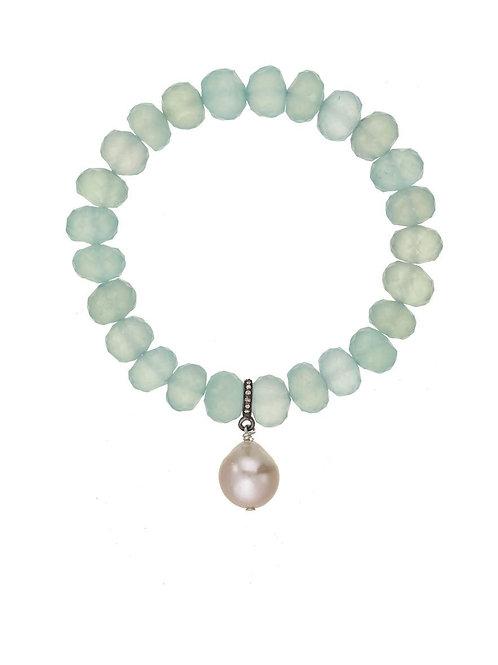 Peruvian Onyx & Baroque Pearl Bracelet - Margo Morrison