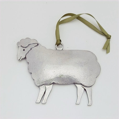 Sheep Ornament - Pewter