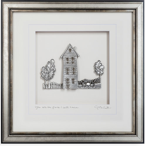 """""""You Are The Place I Call Home"""" Framed Pewter"""