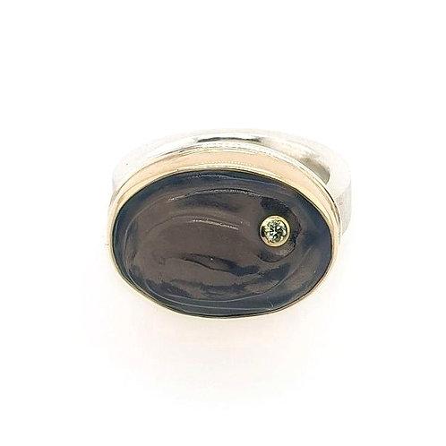 Smoky Quartz & Diamond Ring - Jamie Joseph