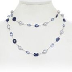 Sapphire & Baroque Pearl Necklace