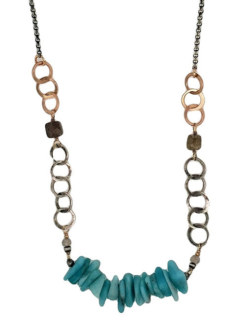 Amazonite & Labradorite Necklace - J & I Jewelry