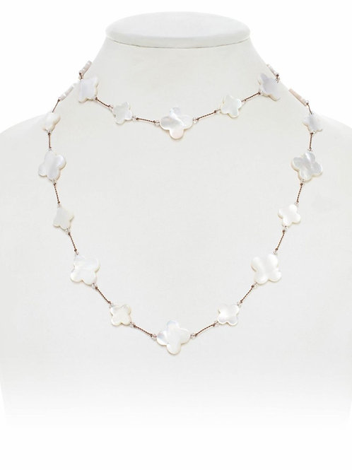 Mother of Pearl Clover Necklace - Margo Morrison