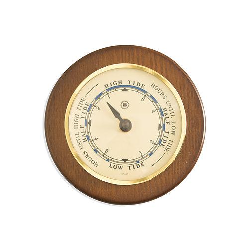 Tide Clock - Brass & Cherry