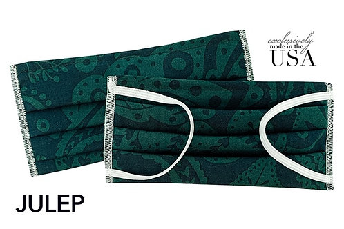 """Cotton Print Face Mask - Made in the USA - """"Julep"""""""