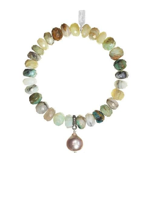 Opal & Baroque Pearl Bracelet - Margo Morrison