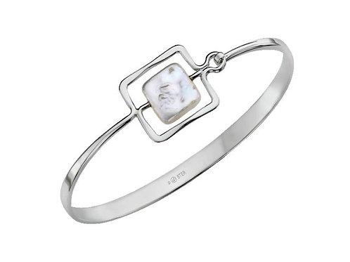 """Zenith"" Bracelet - Sterling Silver & Pearl - Ed Levin Studio"