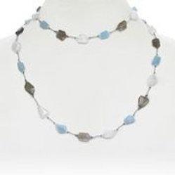 Moonstone, Aquamarine, & Labradorite Necklace - Margo Morrison